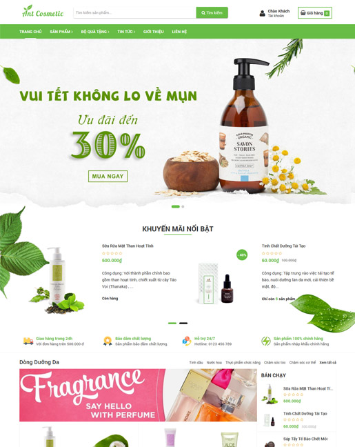 website bán hàng Ant Cosmetic