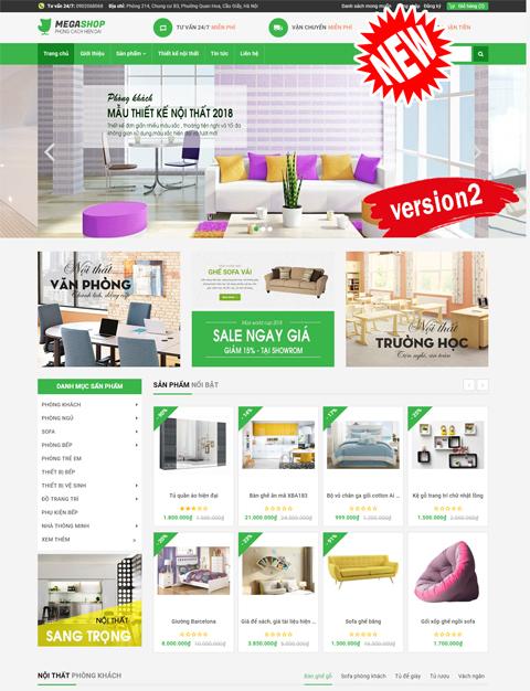 website bán hàng Mega shop