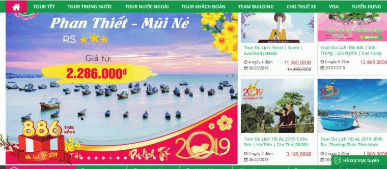 Webd du lịch của datviettour.com.vn