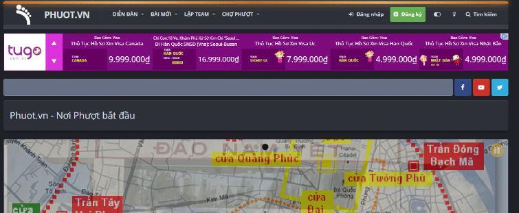 web của phuot.vn ve du lịch
