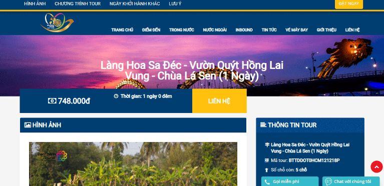 website của benthanhtour