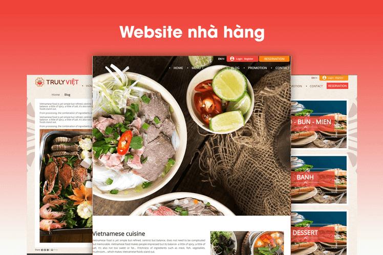 Nội dung của website nhà hàng cần phải đầy đủ, chuẩn xác