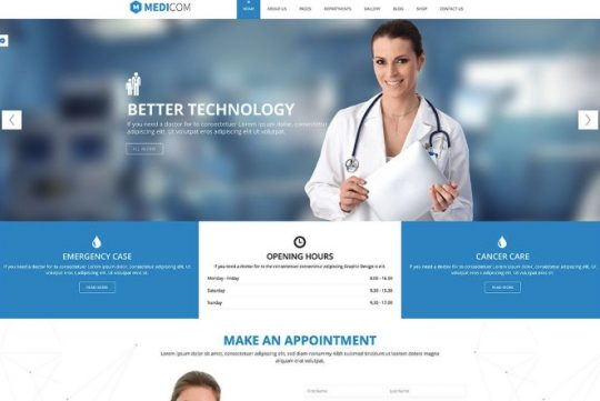 Thiết kế website y tế - bệnh viện - phòng khám