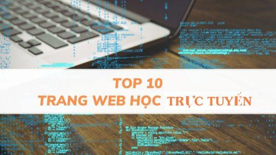 Top 10 website học trực tuyến