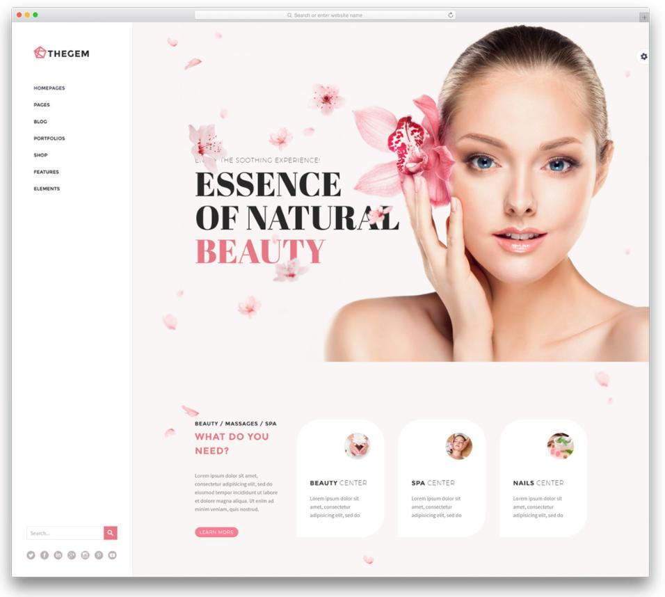 thiết kế web spa giới thiệu