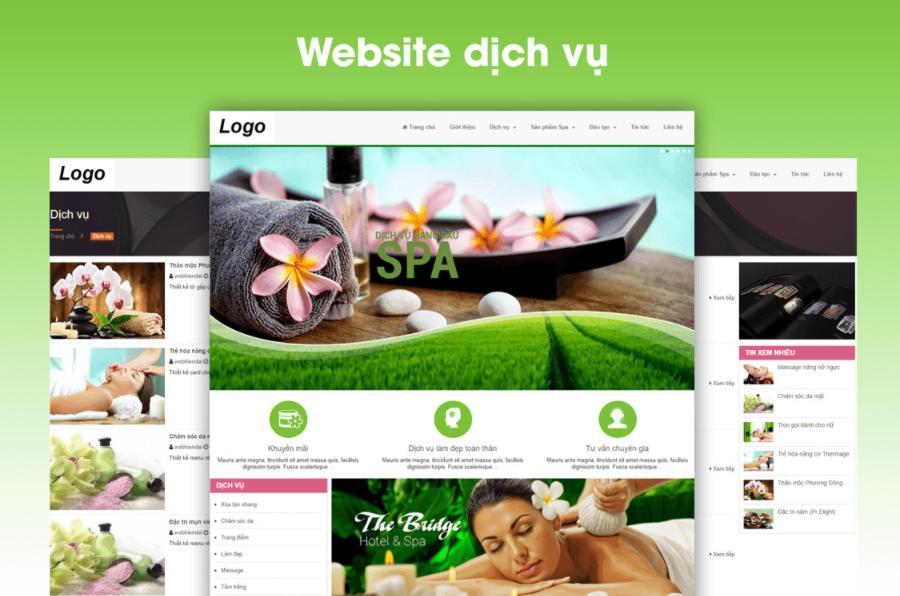 website spa dịch vụ