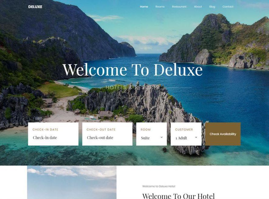 Mẫu làm website khách sạn DeluxHotel