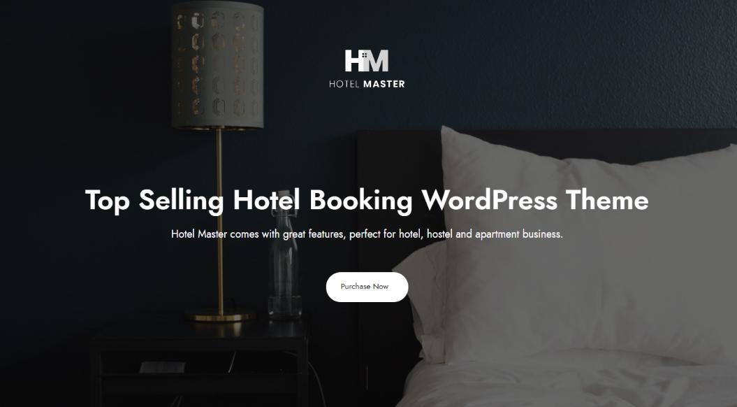 Mẫu thiết kế website Hotel Master