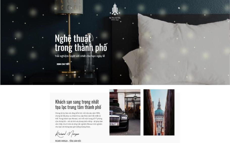 Mẫu thiết kế web khách sạn Luxury Hotel