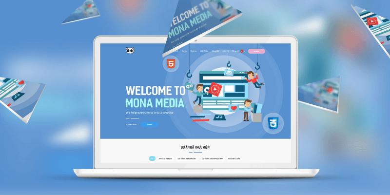 công ty thiết kế website theo mẫu Mona Media