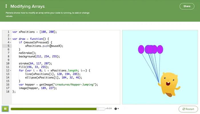 Website tự học lập trình miễn phí -Khan Academy